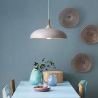 European ancient vintage printing aluminum lampshade with edison bulb for Coffee room