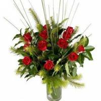 Buy cheap Valentine's Day Elegant Dozen Roses in a Glass Vase.No.4 send flower to australi from wholesalers