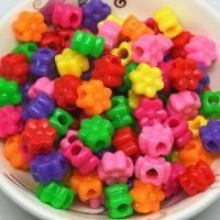 China Bag Colourful Plastic Flowers Beads For Kids DIY Crafts on sale