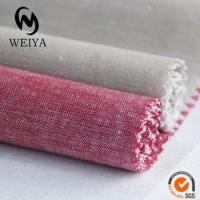 Quality yarn dyed cotton linen fabric for sale