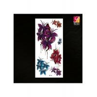 Quality Colored Flower Tattoo Sticker 3D-16 for sale