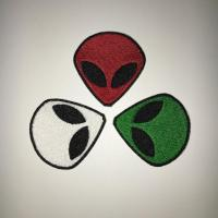 Buy cheap Iron-on Alien Face Embroidery patches, Factory Outlet in Shenzhen, Customized deisgn from wholesalers