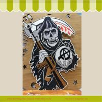 Buy cheap Manufacturers selling high quality custom big size embroidery badges Halloween images from wholesalers