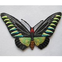 Buy cheap Butterfly iron embroidery patches on applique Shenzhen factory outlet from wholesalers