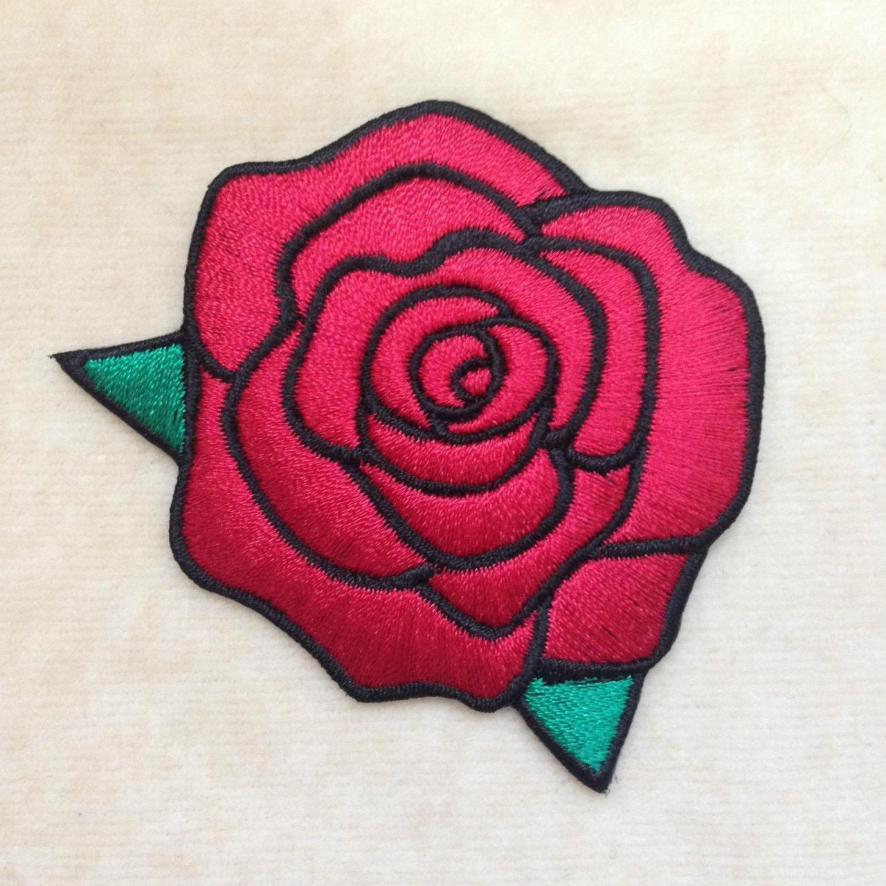 Buy cheap Pink Rose Embroidery Patch Iron on Applique , Factory Outlet and Customized design from wholesalers