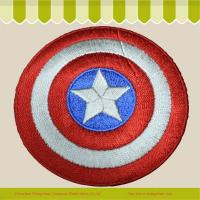 Buy cheap iron on patch Product  Custom superman sheild embroidery badge sew on from wholesalers