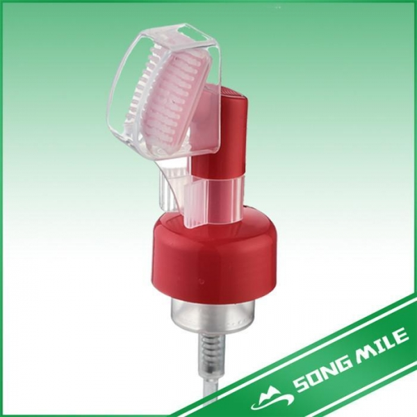 Buy Plastic 43mm Hand Soap Foam Pump With Clip Facial Brush at wholesale prices