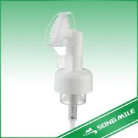 Quality Silica Face Washing Liquid Soap Foam Pump With Brush for sale