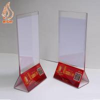 Buy cheap Display Stands Acrylic Menu Holder from wholesalers