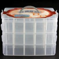 Quality Makeup Storage Case Box Holder Organizer Container 3 Layers 30 Grids for sale
