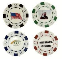 Quality Christmas Decor Custom Two Sided Poker Chip Ball Markers for sale