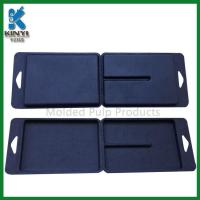 Quality Customized Black Color Biodegradable Fiber Pulp Molded Packaging Boxes for sale