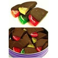 Quality Hand Dipped Dark Chocolate Covered Fruit Slices, Sugar Free, 21 Slices (21.7 oz) Gift Tin for sale