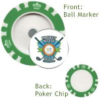 Quality Best Sellers Custom Logo Magnetic Poker Chip with custom removable Golf Ball Marker for sale