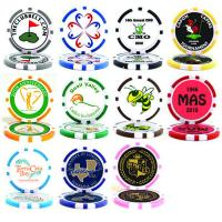 Quality Best Sellers Poker Chip Logo Golf Ball Marker for sale