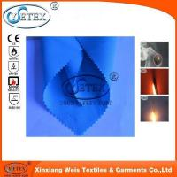 Buy cheap Safety clothing 300g blue 100 cotton satin fire protective fabrics for industry workwear from wholesalers