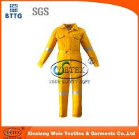Buy cheap Safety clothing EN11611 high visibility yellow 100% cotton fire resistant welding coveralls from wholesalers