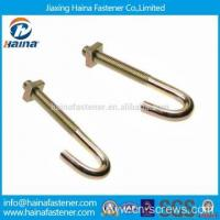Quality Carbon Steel Color Zinc Plated J Hook Bolts with Nuts for sale
