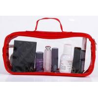 China Square Travel Small Mini Red Color Black Color Soft PVC Cosmetic Bag on sale