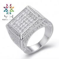 Quality Micro Pave Setting Wedding Rings For Men for sale