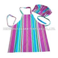 China 100%cotton Printing Apron and chefhat set for child AGP08 on sale