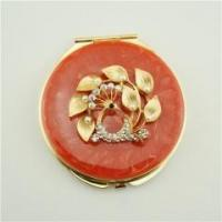Buy cheap Beautiful butterfly and flower glass pill box from wholesalers