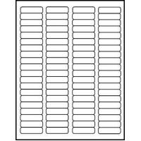 Quality Glossy Laser White Labels 1 3/4 x 1/2 inch 50 sheets #1705GW for sale