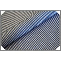 Quality Gingham Shirting Fabric - Lt. Blue for sale