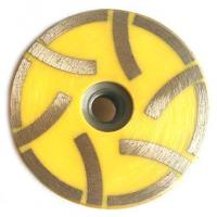 Resin Filled Continous Flat Cup Grinding Wheel Designed For Stones With 6 Segments