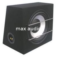China Silver Pressed Paper Cone Sealed Powered Subwoofer Box , Car Subwoofer Enclosure on sale