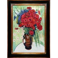 China Hand Painted Flower Oil Painting Wall Art Gallery Wrapped on sale