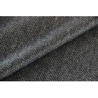 China Brushed Twill Construction Worsted Wool Fabric , Grey Strong Twilled Fabric on sale