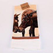 Quality Kissing Horses Terry Kitchen Towel for sale
