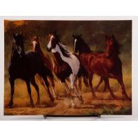 China Horses Running Free Birthday Card by Chris Cummings on sale