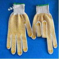 Buy cheap cloth dotted garden glove from wholesalers