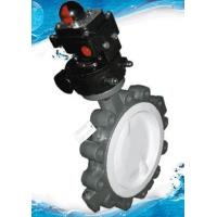 Quality Wafer Lug FEP / PTFE/ PFA Lined Butterfly Valve for sale