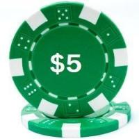 Quality Promotional Poker Chips Custom Hot Stamped Green Striped Dice Poker Chips for sale