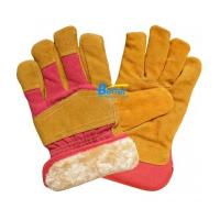Quality Yellow Warm Fur Health Care Gloves for sale