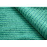 Quality Eco - Friendly Printted Striped Minky Fabric Flame Retardant Farland for sale