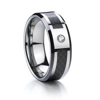 Quality Wholesale Brush Finish CZ Ring Tungsten Carbide Wedding Ring for Men and Women for sale
