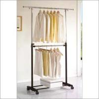 Quality 2 Tier Movable Garment Rack for sale