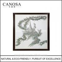 Quality CANOSA Shell hand engarving phoenix Wall Picture with wood frame for sale