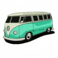 Quality 1962 Volkswagen Type 2 VW Bus Microbus Embroidery Design for sale