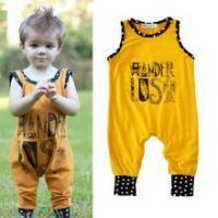Quality wholesale baby infant cotton black long sleeve romper with print for sale