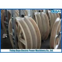 Three Wheel Combination pulley / Bundled Conductor Pulley 3x1040x125 mm for Line Stringing Machine