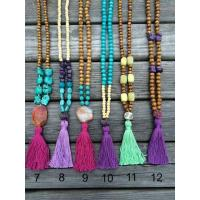Quality Woman Gradually Colorful Beaded Necklaces Women Mix Color Tassel Seed Bead Necklaces for sale