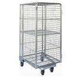 Quality Folding Nestable Four Sides 4 Sided Full Security Wire Mesh Roll Cage for sale