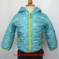 Quality Winter Outdoor Waterproof Printed Coat Cute Quilted Jacket with Hood for Boys for sale