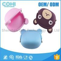 Quality Fashionable animal waterproof rubber silicon bear shaped coin purse for sale