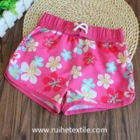 Quality Summer Beach Shorts Stylish Flower Printed Shorts for Girls for sale